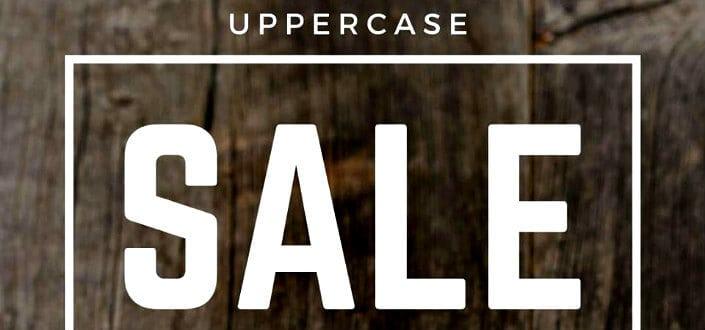 uppercase box - promo