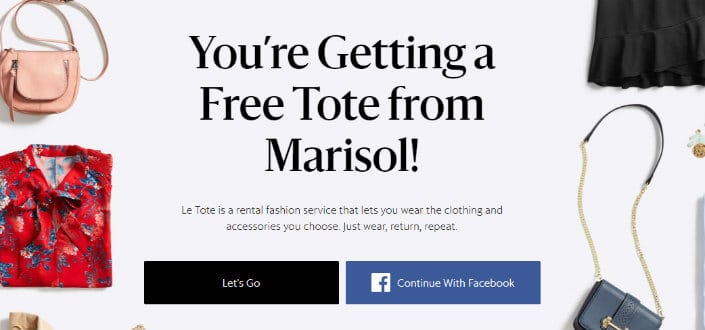 LE TOTE REVIEWS - referral