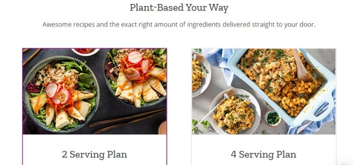 purple carrot review - Choose your size of subscription plan