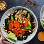 purple carrot review - Peanut vegetable buddha bowls