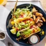 purple carrot review - Tofu scramble tacos