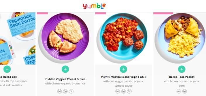 yumble review - Yumble recent boxes