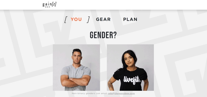 gainz box review - Select Your Gender