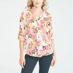 wantable review - Kut From The Kloth Jasmine Floral Blouse in Terni White